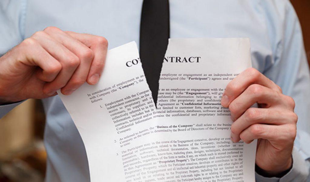 Razones para Demandar por Incumplimiento de Contrato, ruptura del contrato